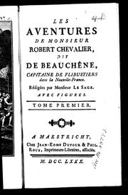 Cover of: Les aventures de Monsieur Robert Chevalier, dit De Beauchêne by Monsieur Le Sage