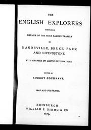 Cover of: The English explorers | Robert Cochrane