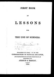 Cover of: First book of lessons by