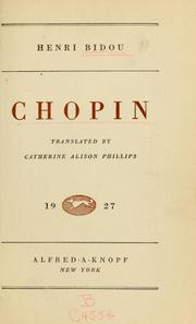 Cover of: Chopin | Henry Bidou