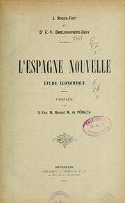 Cover of: L'Espagne nouvelle by J. Hogge-Fort