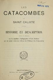 Cover of: Les Catacombes de saint Calixte | Sisto Scaglia