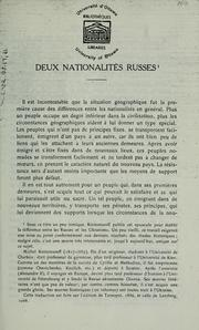 Cover of: Deux nationalités russes \ | N. I. Kostomarov