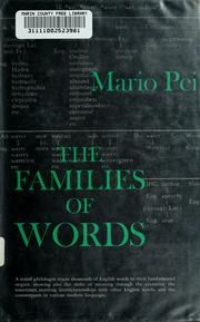 Cover of: The families of words. by Mario Pei