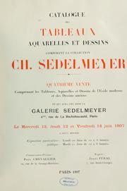 Cover of: Catalogue de tableaux composant la collection Ch. Sedelmeyer by Charles Sedelmeyer