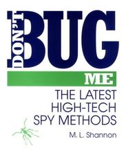 Cover of: Don't Bug Me