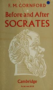 Cover of: Before and after Socrates by Francis MacDonald Cornford