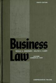 Business law by Anderson, Ronald Aberdeen