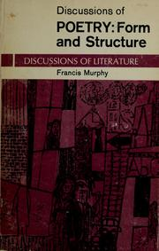 Cover of: Discussions of poetry | Francis Murphy