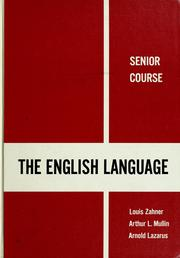 Cover of: The English language by Louis Zahner