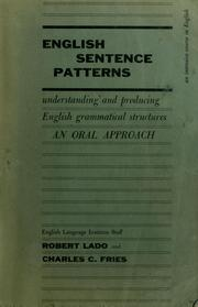Cover of: English sentence patterns by Robert Lado