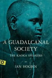 Cover of: A Guadalcanal society