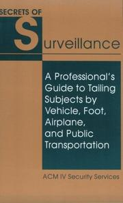 Cover of: Secrets Of Surveillance