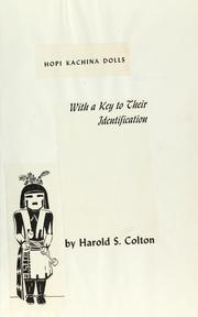 Cover of: Hopi kachina dolls | Harold Sellers Colton