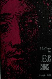 Cover of: I believe in Jesus Christ | Marbury E. Anderson