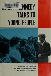 Cover of: John F. Kennedy talks to young people | John F. Kennedy