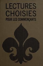 Cover of: Lectures choisies pour les commençants | David Steinhauer