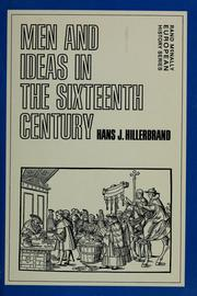 Cover of: Men and ideas in the sixteenth century | Hans Joachim Hillerbrand