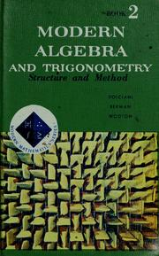 Cover of: Modern algebra and trigonometry by Mary P. Dolciani