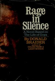 Cover of: Rage in silence | Donald Braider