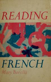 Cover of: Reading French | Mary Borelli