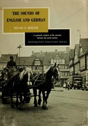 Cover of: The sounds of English and German. | William Gamwell Moulton, William G. Moulton