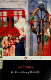 Cover of: Boethius.\The consolation of philosophy |