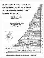 Cover of: Pliocene Vertebrate Faunas of Southeastern Arizona and Southwestern New Mexico |