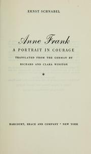 Cover of: Anne Frank