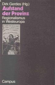 Cover of: Aufstand der Provinz: Regionalismus in Westeuropa