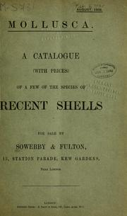 Cover of: Sale catalogues by Sowerby and Fulton by G. B. Sowerby