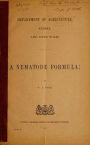 Cover of: A nematode formula by Nathan Augustus Cobb