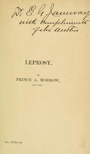Cover of: Leprosy | Morrow, Albert Prince