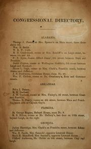 Cover of: Congressional directory | Confederate States of America. Congress