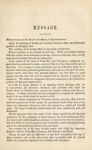 Cover of: Message of the President of the United States by Abraham Lincoln