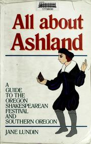 Cover of: All about Ashland by Jane Lundin