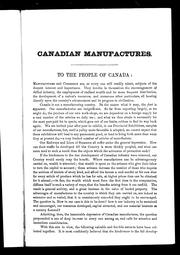 Cover of: Canadian manufactures |