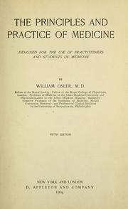 Cover of: The principles and practice of medicine by Osler, William Sir