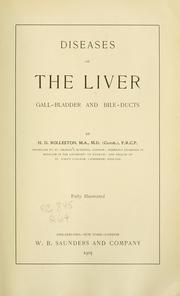 Cover of: Diseases of the liver by Rolleston, Humphry Davy Sir