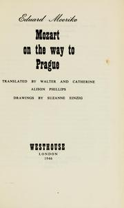Cover of: Mozart on the way to Prague by Eduard Mörike
