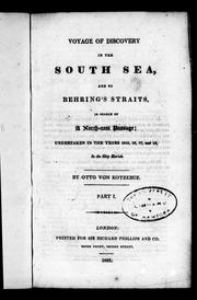 Cover of: Voyage of discovery in the South Sea, and to Behring's Straits, in search of a north-east passage | Otto von Kotzebue