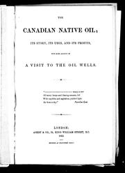 Cover of: The Canadian native oil by