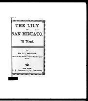 Cover of: The lily of San Miniato by C. V. Jamison