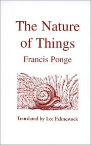 Cover of: The Nature of Things