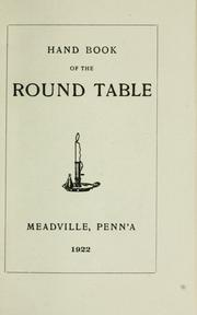 Cover of: Hand book of the Round Table by