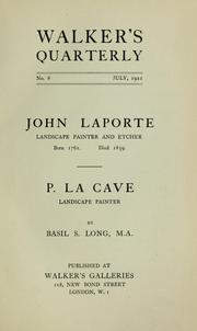 Cover of: John Laporte | Long, Basil S.