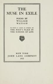 Cover of: The muse in exile | Watson, William Sir