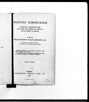 Cover of: Fasting communion by Hollingworth Tully Kingdon