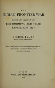 Cover of: The Indian frontier war by James, Lionel