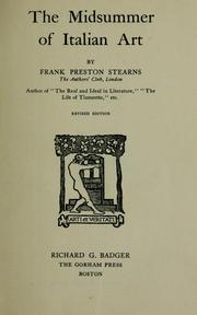 Cover of: The midsummer of Italian art | Frank Preston Stearns
